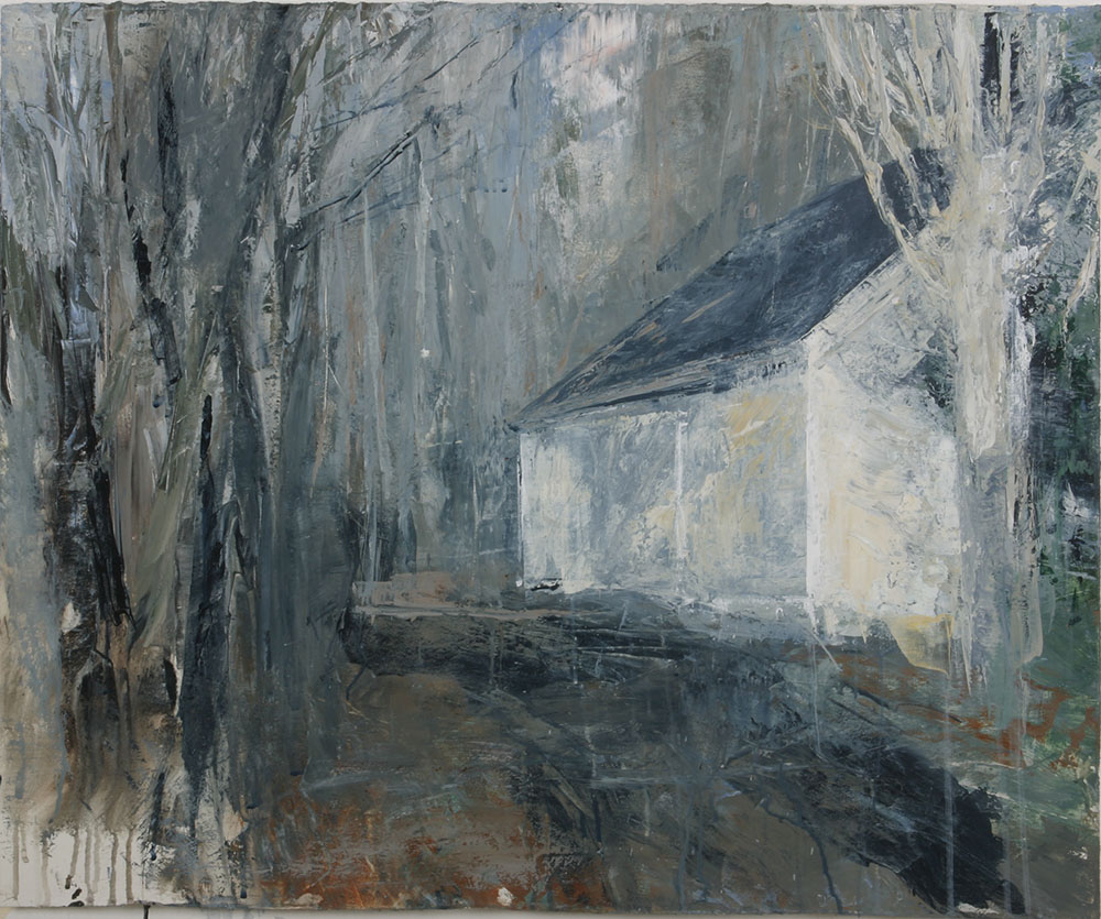 White barn