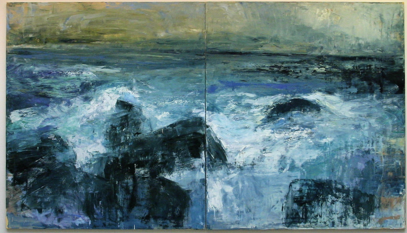 Ocean Narrative Diptych