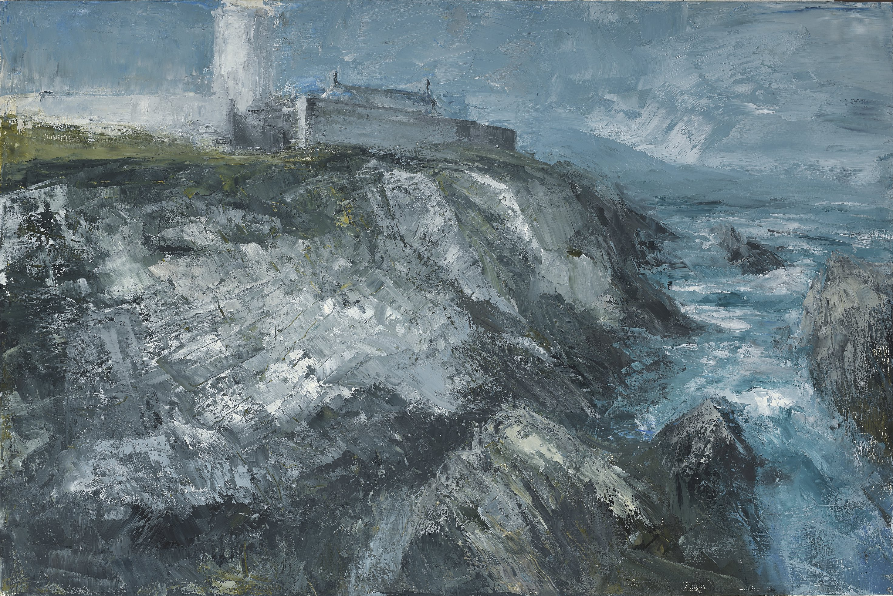 """Lighthouse 2017 oil on canvas,  39 1/4"""" x 59 inches"""