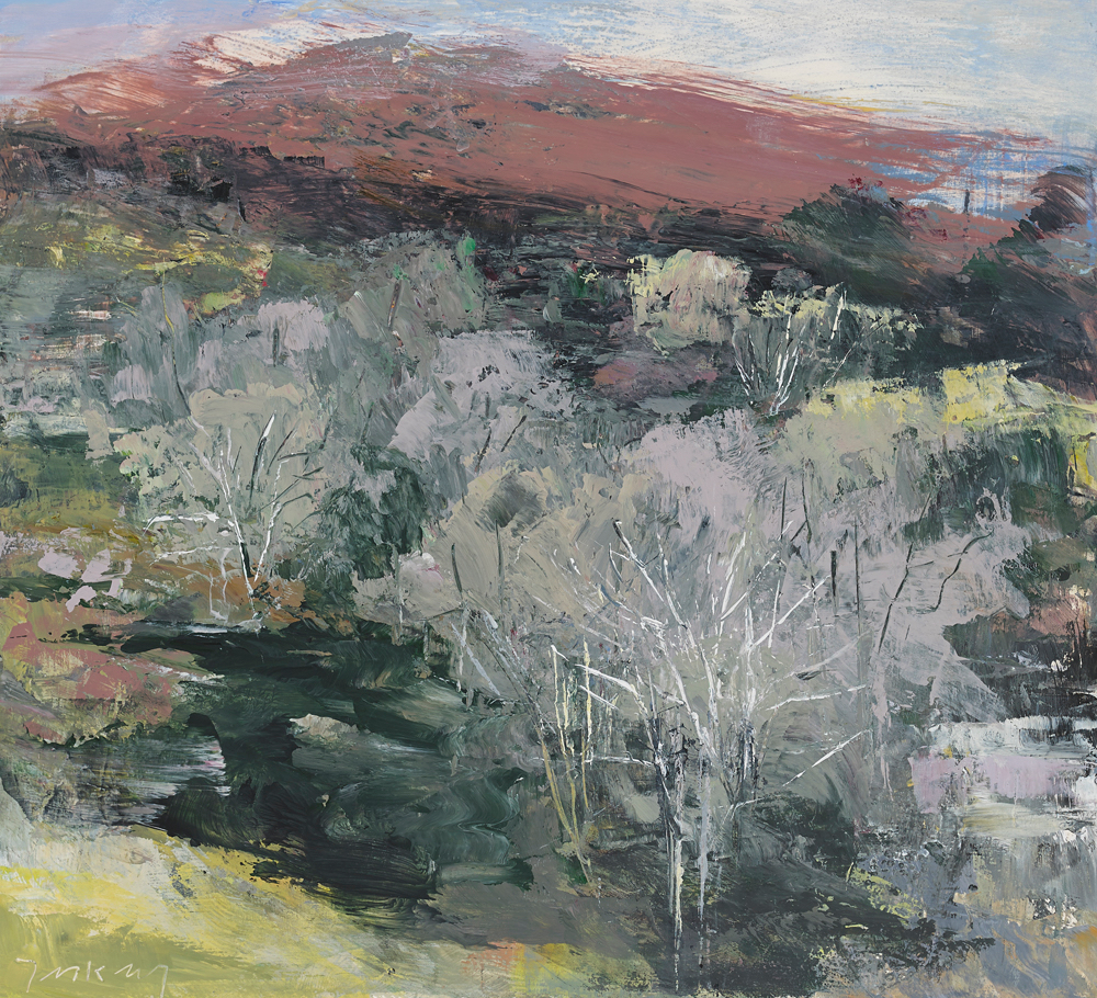 Old Forest, Coomerkane Valley 2013,  acrylic on paper   15 x 16 inches.
